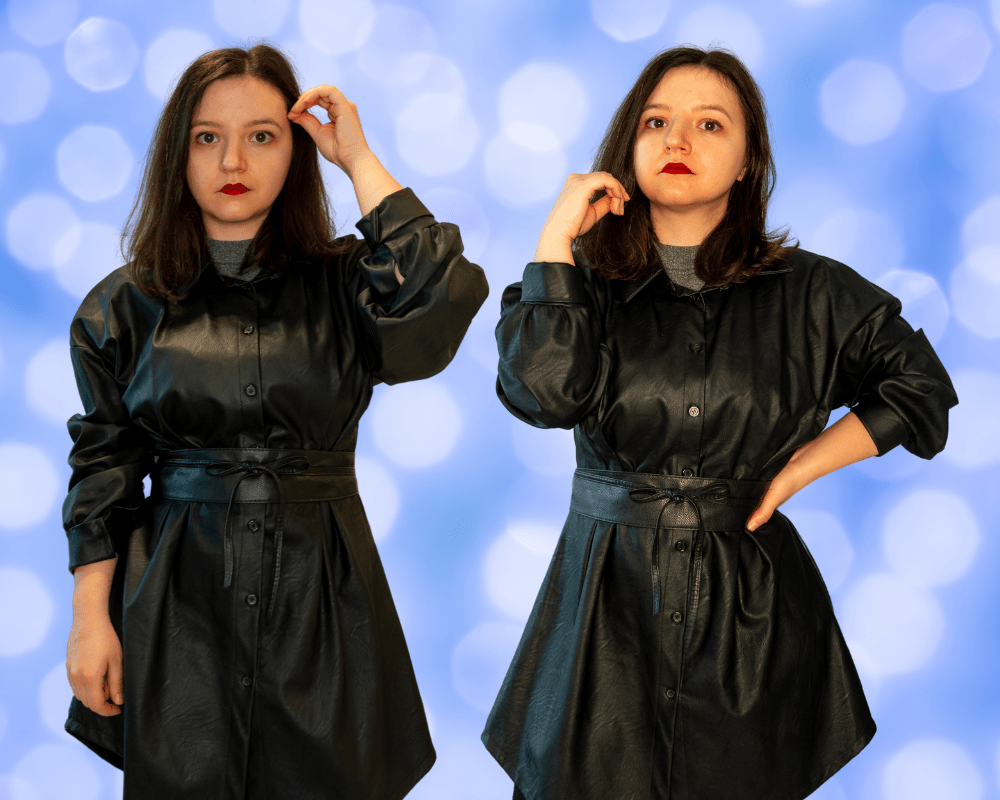 how to wear faux leather dress in winter