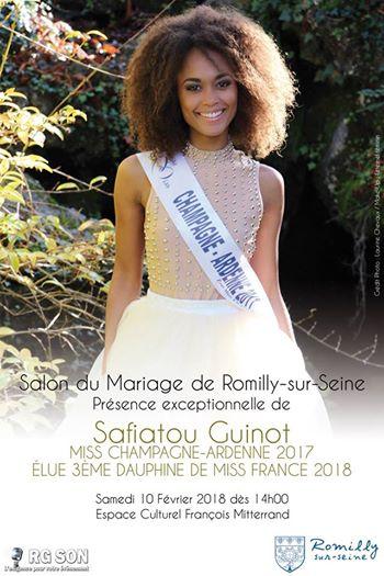 Safiatou Guinot Miss Champagne-Ardenne 2017 élue 3ème Dauphine de Miss France 2018