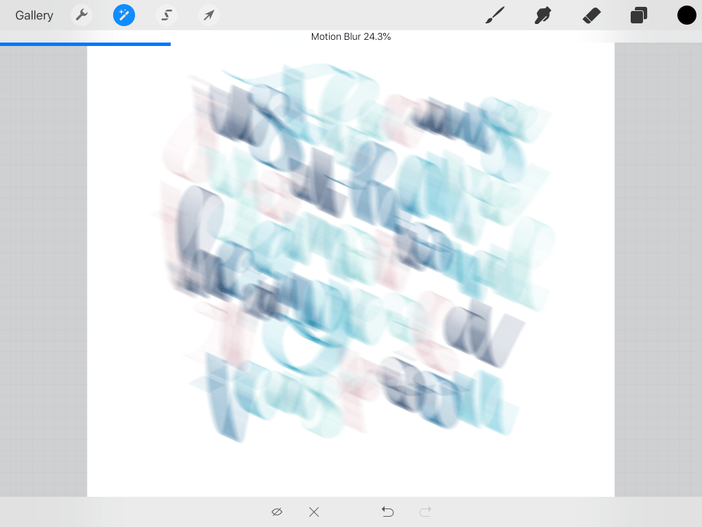 procreate motion blur