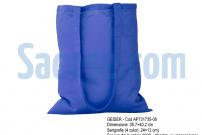 sacose de panza - bumbac - geiser albastra