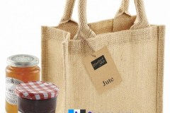 sacose iuta jute-petite-gift-bag dimensiuni 20 x 20 x 12 cm - natur