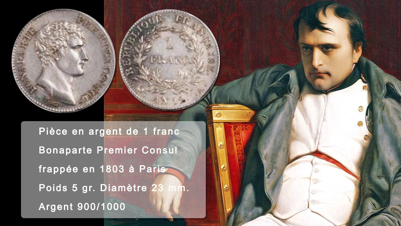 Pièce de 1 franc argent ou Franc Germinal