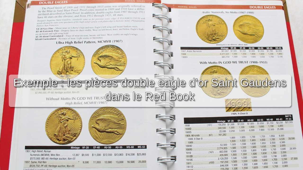 Exemple : les pièces d'or double aigle d'or Saint-Gaudens dans le Red Book