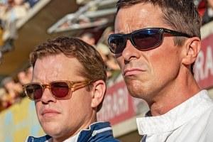 Matt Damon and Christian Bale in a production still from Ford v Ferrari