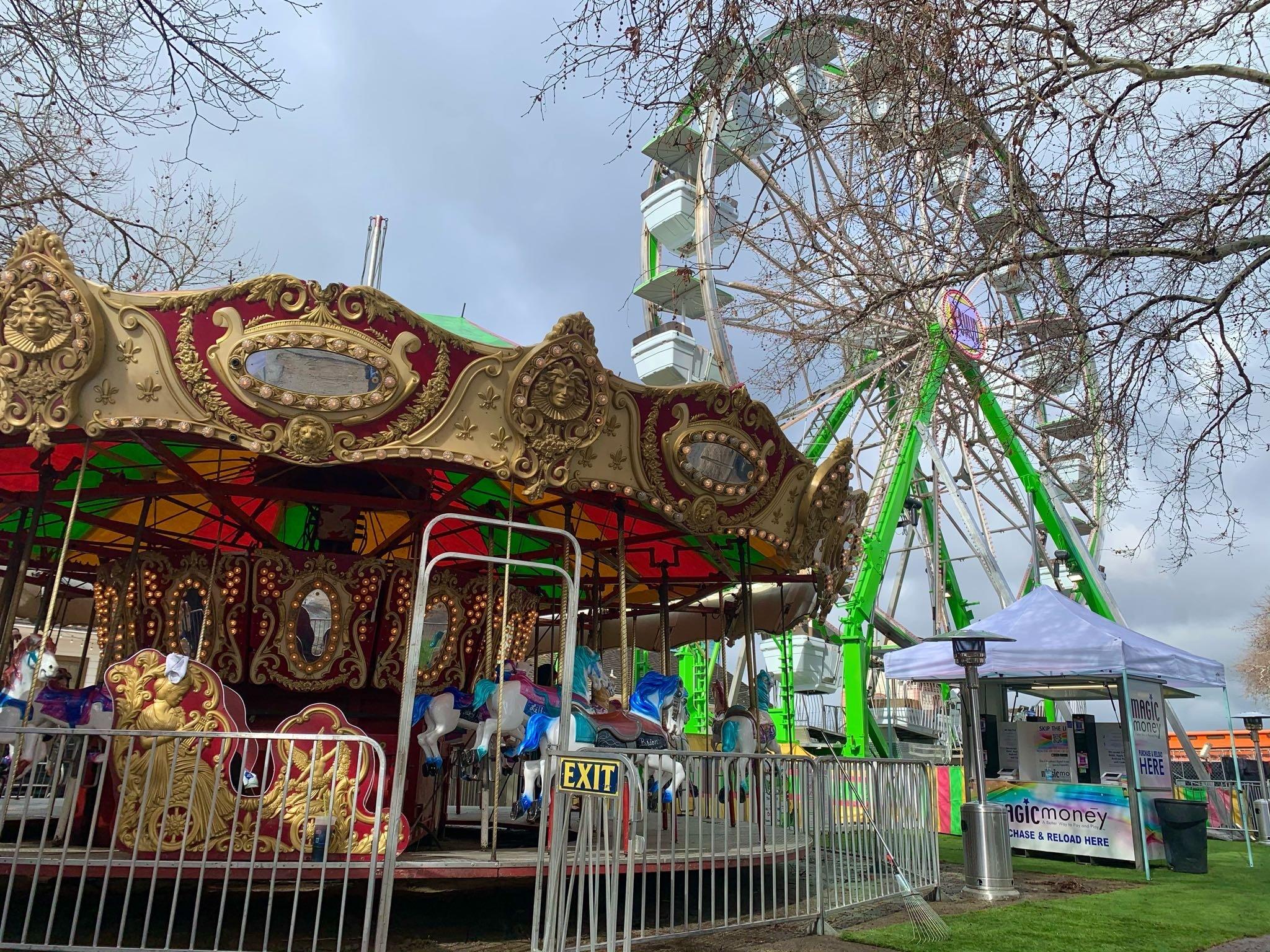 An Enchanting Front Street Carousel Installed at the Old Sacramento Waterfront via @sacramentopress