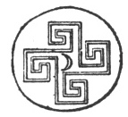 FIG. 32. CRETAN COIN. (Numismatic Chronicle, vol. xx., new series, pl. ii., fig. 7.)