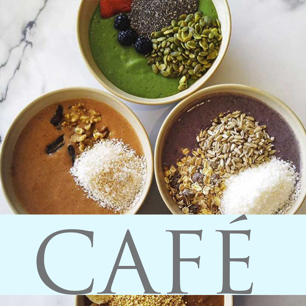 Learn the benefits of plant-based foods and visit our café.