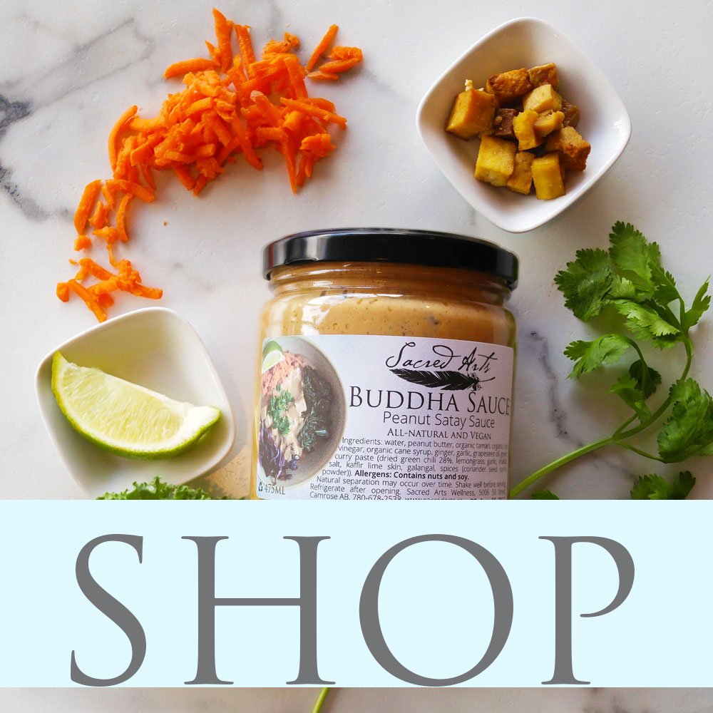 Purchase our sauces and retail items online and enjoy Sacred Arts at home!