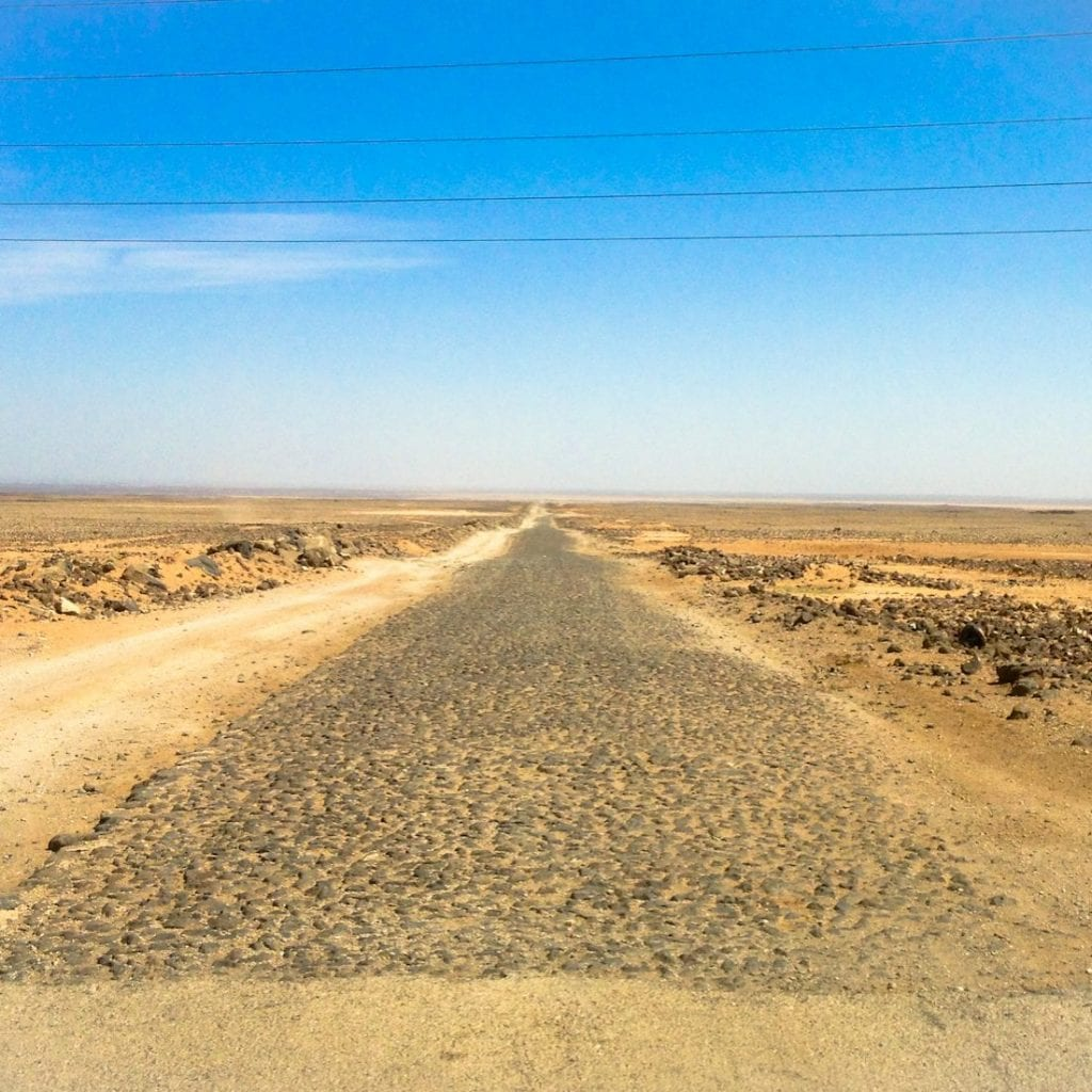 Roman road- Makka to Damascus. Copyright Sacred Footsteps. All rights reserved.