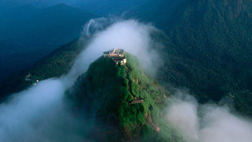Temple at the top of Adam's Peak. Image Amila Tennakoon CC via Flickr