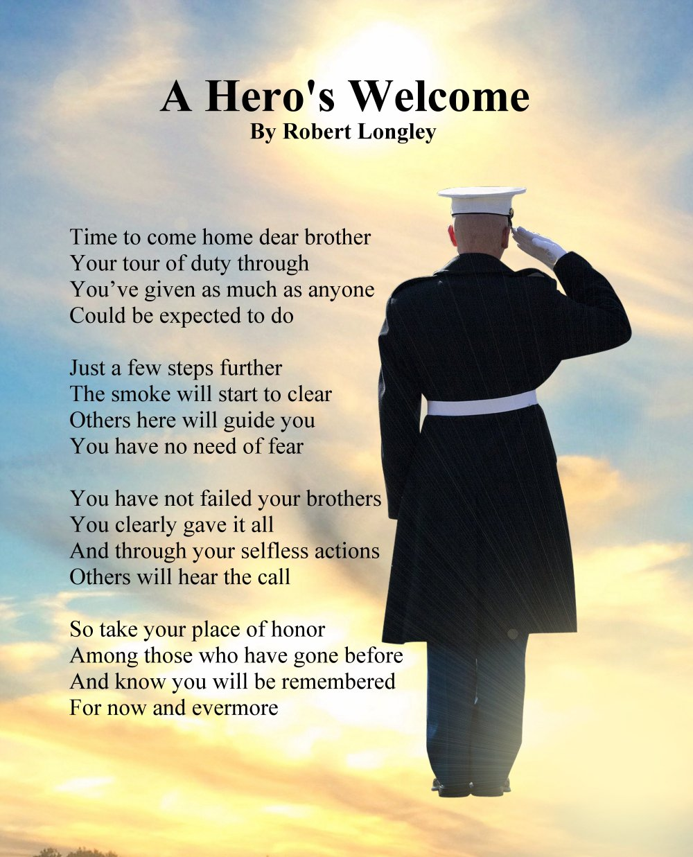 A Heros Welcome Veterans Day Poem
