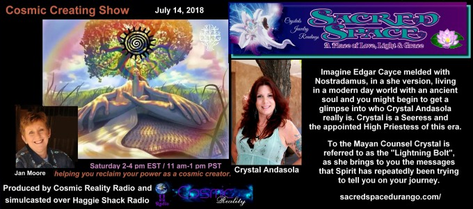 Interview on the Cosmic Creating Show 07/14/18