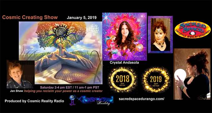 Interview on the Cosmic Creating Show 01/04/19