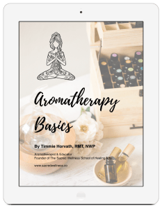 Aromatherapy Basics Book by Timmie Horvath - The Sacred Wellness School of Healing Arts - Online Aromatherapy Training