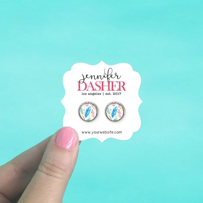 Ornate Bracket Jewelry Cards