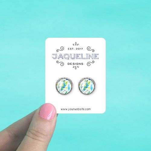 Rounded Rectangle Jewelry Cards