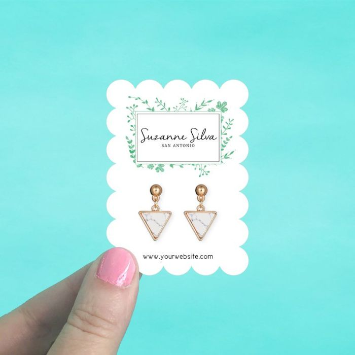 Scalloped Rectangle Jewelry Cards