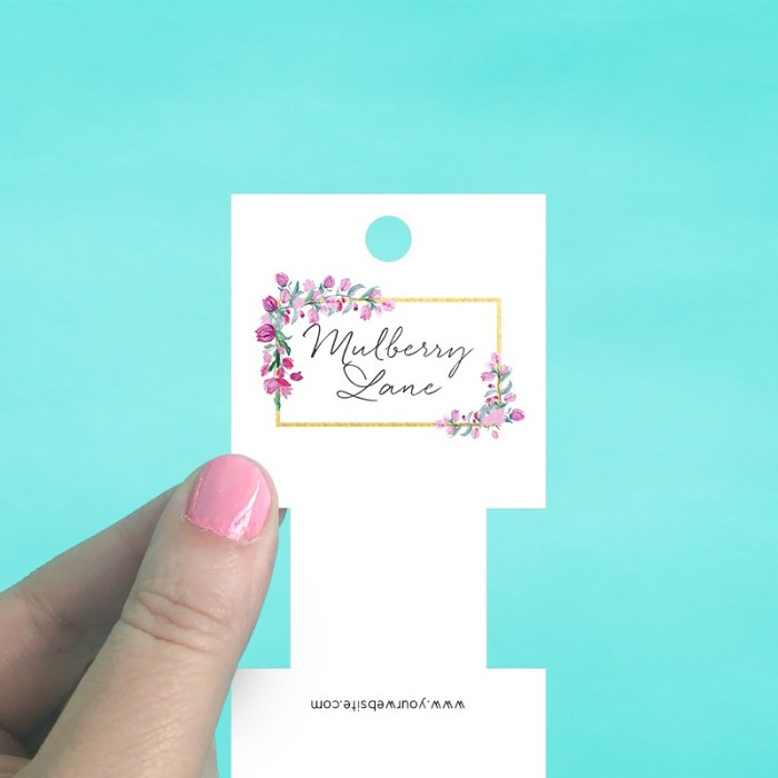 Square Fold Over Tag