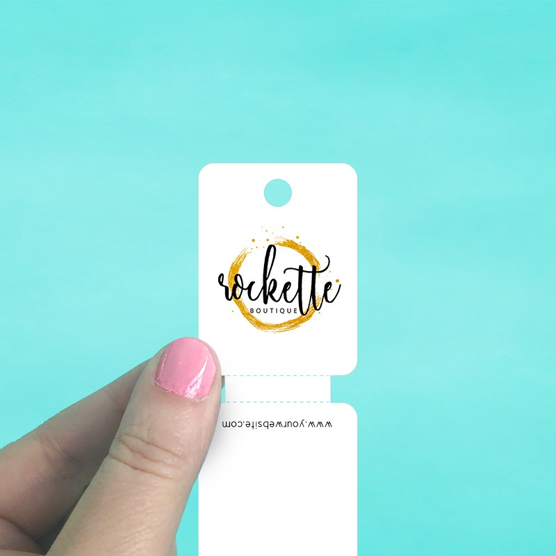 Narrow Perforated Fold Over Tags