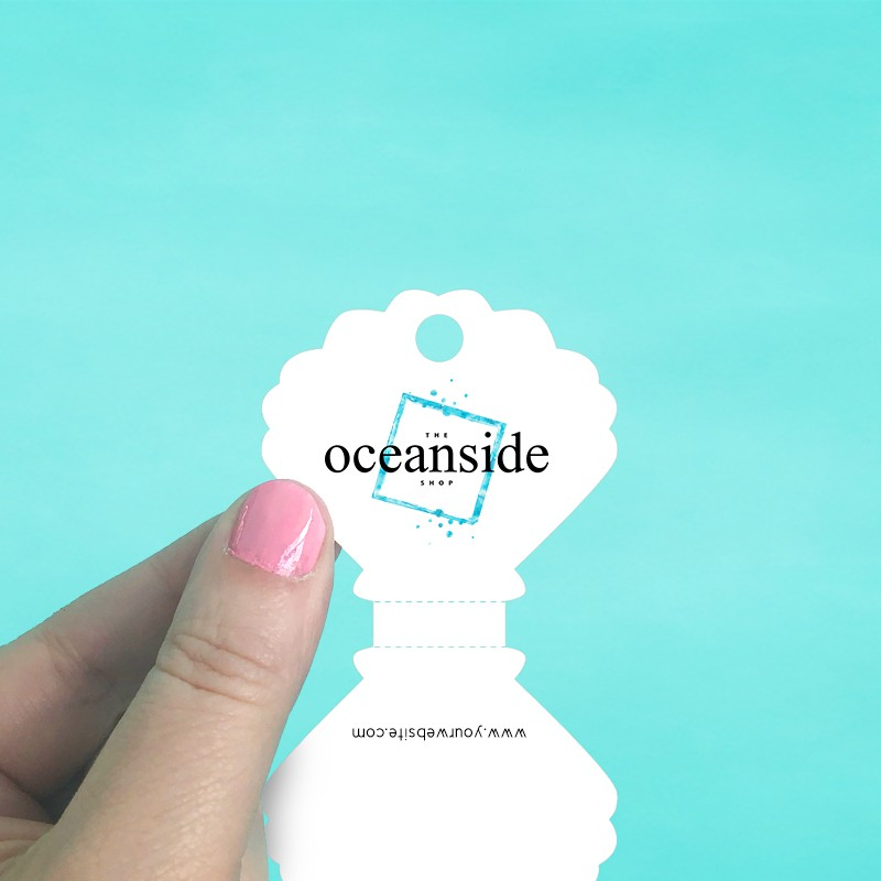 Seashell Perforated Fold Over Tags
