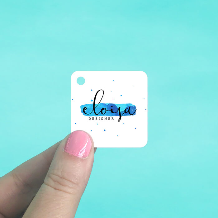 Rounded Square Hang Tags