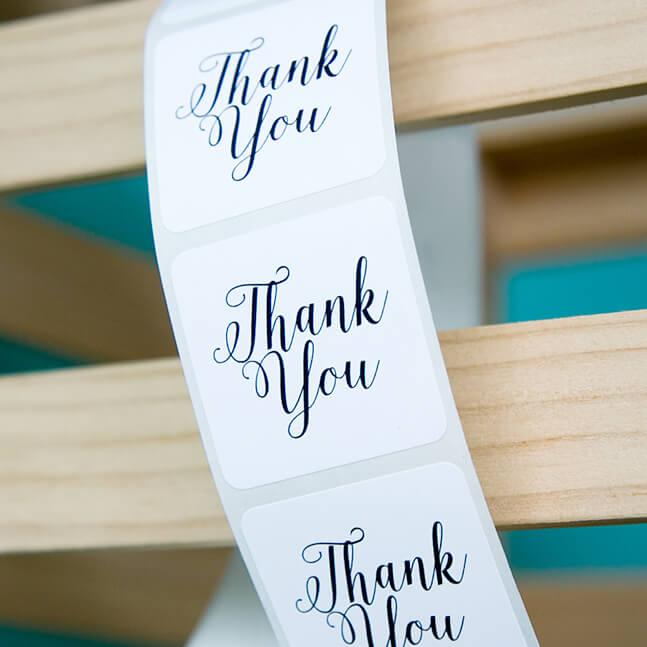 Elegant Thank You Stickers