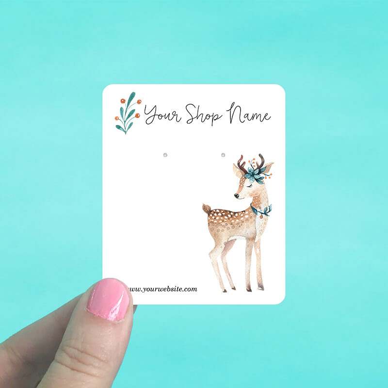 Baby Deer Jewelry Display Cards