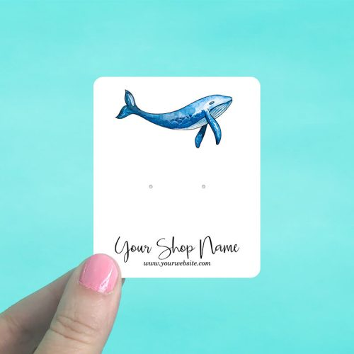 Blue Whale Jewelry Display Cards
