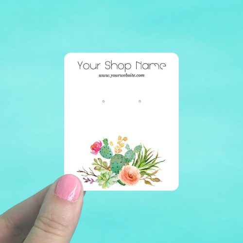 Cactus Rose Jewelry Display Cards