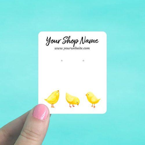 Three Chicks Jewelry Display Cards