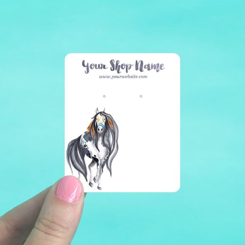 Tribal Horse Jewelry Display Cards