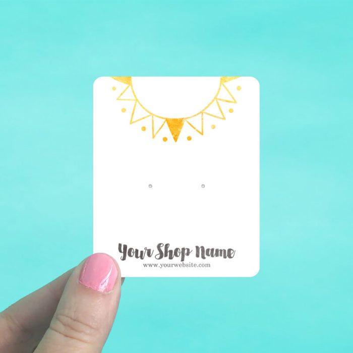 Tribal Sun Jewelry Display Cards