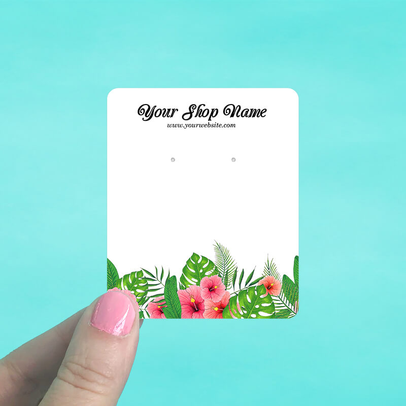 Tropical Hibiscus Jewelry Display Cards