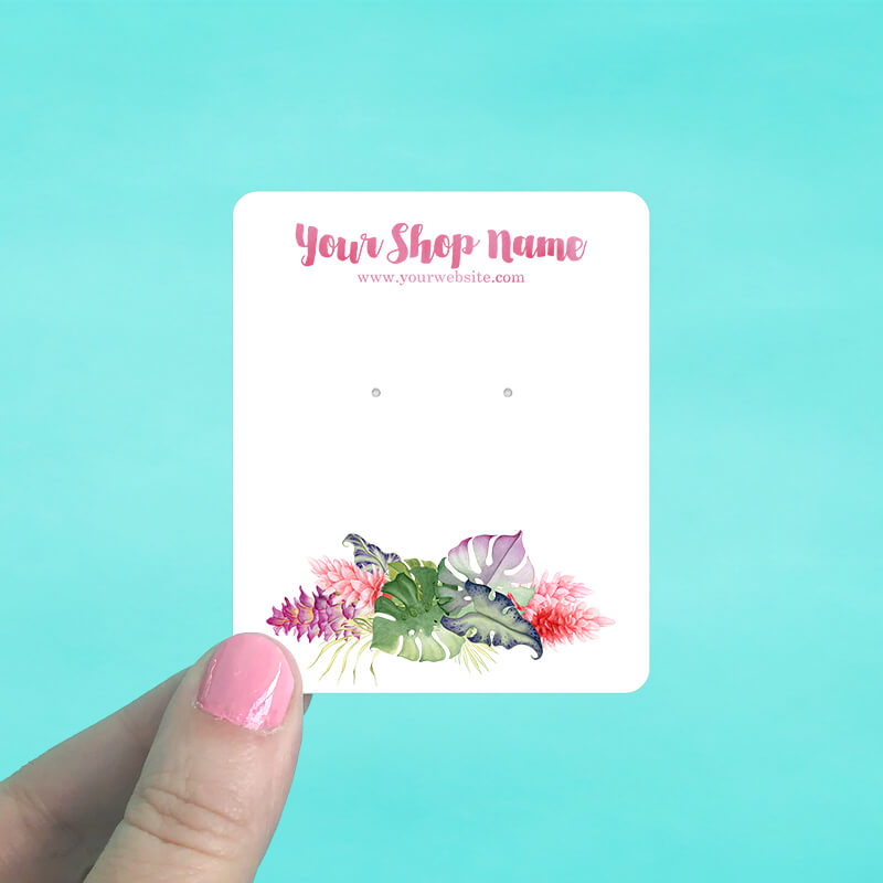 Hawaiian Floral Jewelry Display Cards