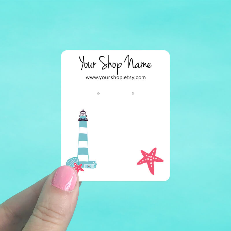 Lighthouse Jewelry Display Cards