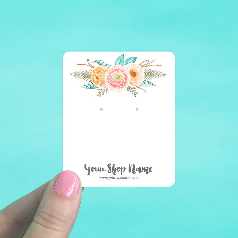 Fall Pastel Floral Jewelry Display Cards