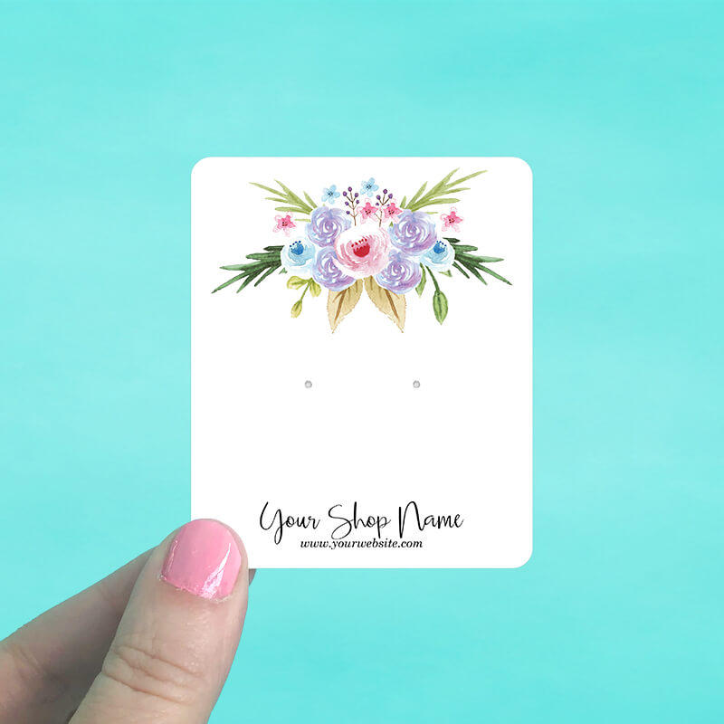 Pastel Bouquet Jewelry Display Cards