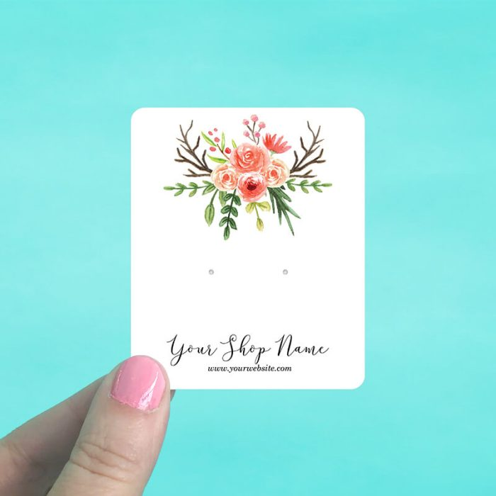 Roses & Antlers Jewelry Display Cards
