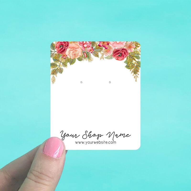 Rose Garden Jewelry Display Cards