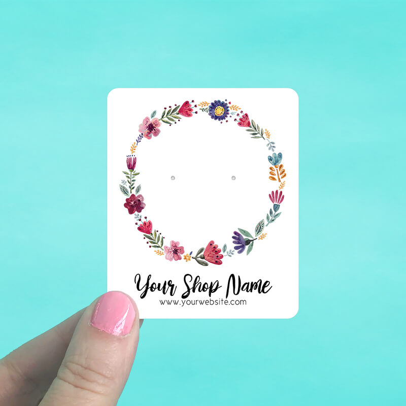 Floral Wreath Jewelry Display Cards