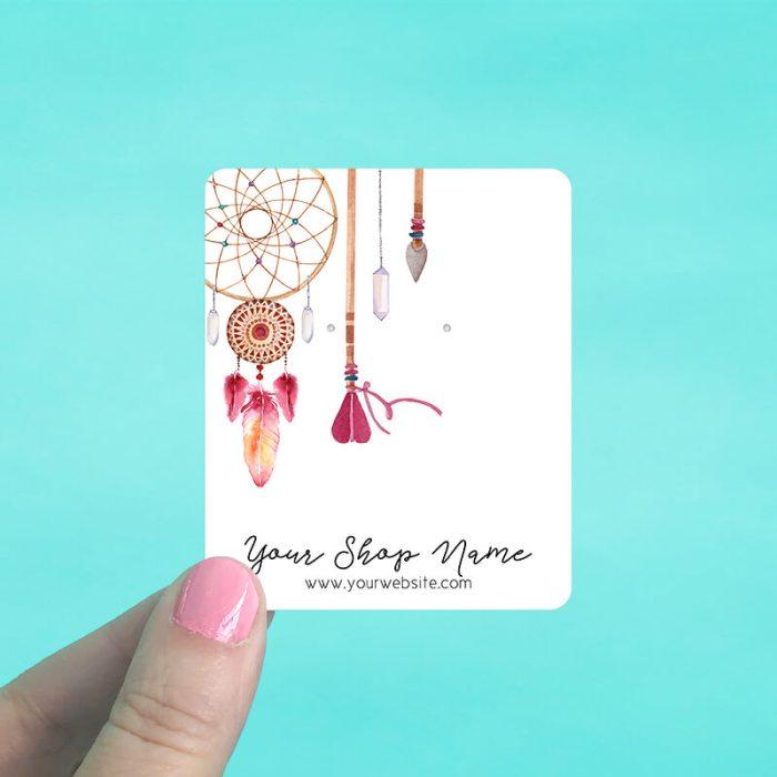 Dreamcatcher & Arrows Jewelry Display Cards