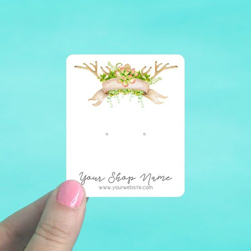 Succulent Banner Jewelry Display Cards