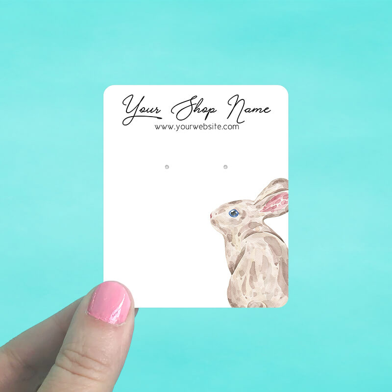 Brown Bunny Jewelry Display Cards