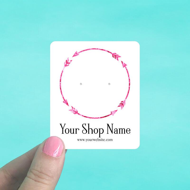 Arrow Circle Jewelry Display Cards