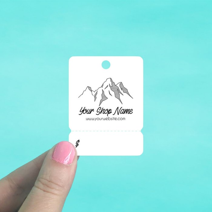Mountain Range Tear Off Hang Tags
