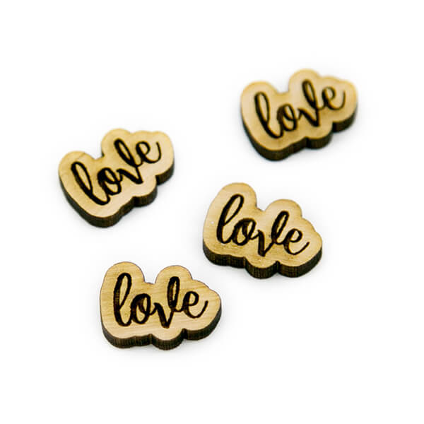 Love Wood Cabochon