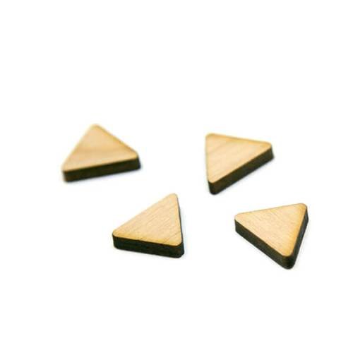 Triangle Wood Cabochon