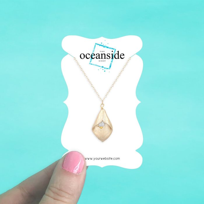 Elegant Bracket Jewelry Cards