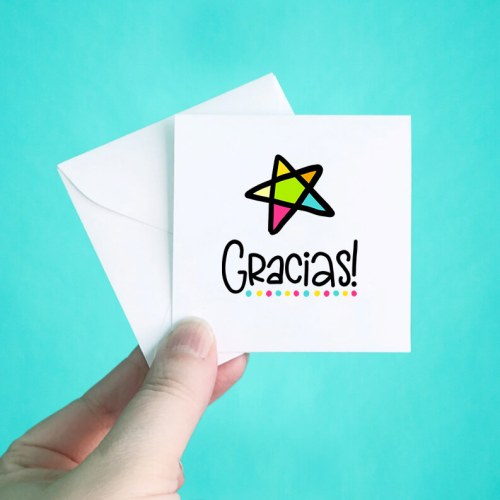 Gracias Mini Thank You Note Cards