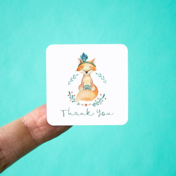Gypsy Fox Thank You Stickers